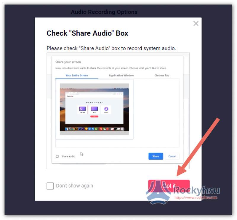Chrome 瀏覽器錄影
