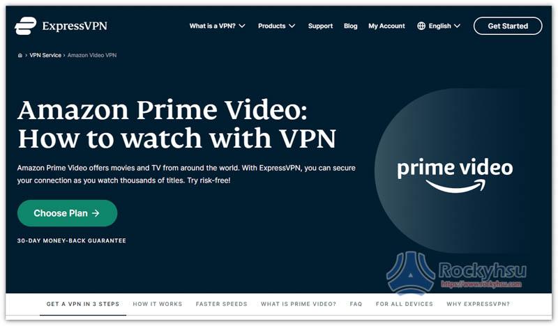 ExpressVPN Amazon Prime Video