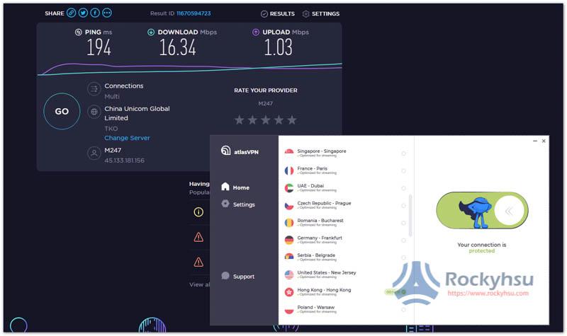 AtlasVPN 香港伺服器