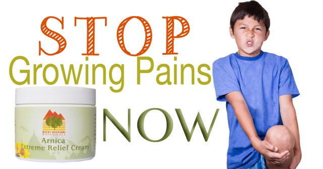 Arnica Extreme Pain Relief Cream, Growing Pains, Natural kid products, Natural products for kids, Arnica, MSM