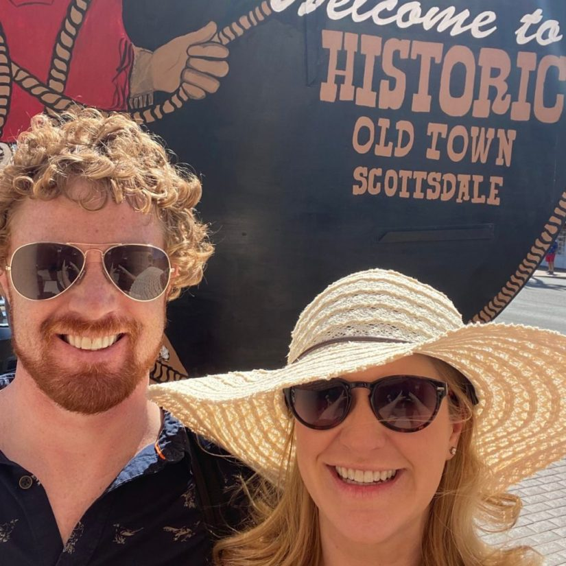 Samantha and Her Hubby, Joel, in Old Town Scottsdale © Rocky Mountain Food Tours