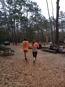 Picking up my cousin, Erica, at mile 63.