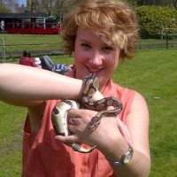 Merlin the snake out at Audley End Railway