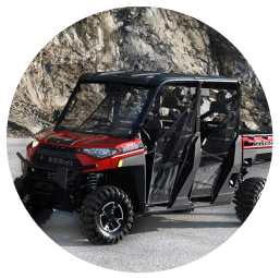 red Polaris UTV rental