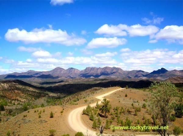 Flinders Ranges Photo over Bunyeroo Valley