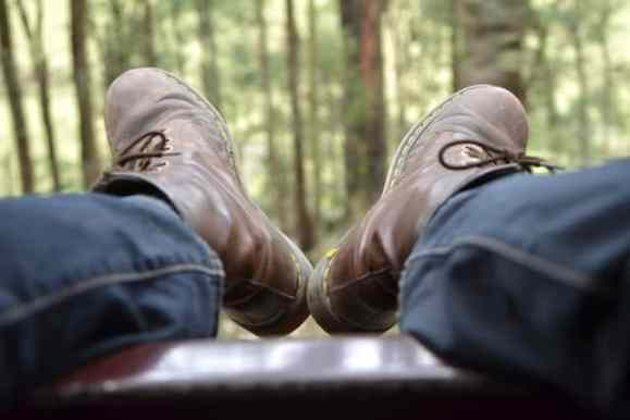 Dangling Legs over the Puffing Billy Train Carriage