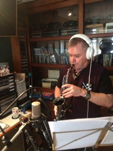 Mike Collinson at work in the studio.