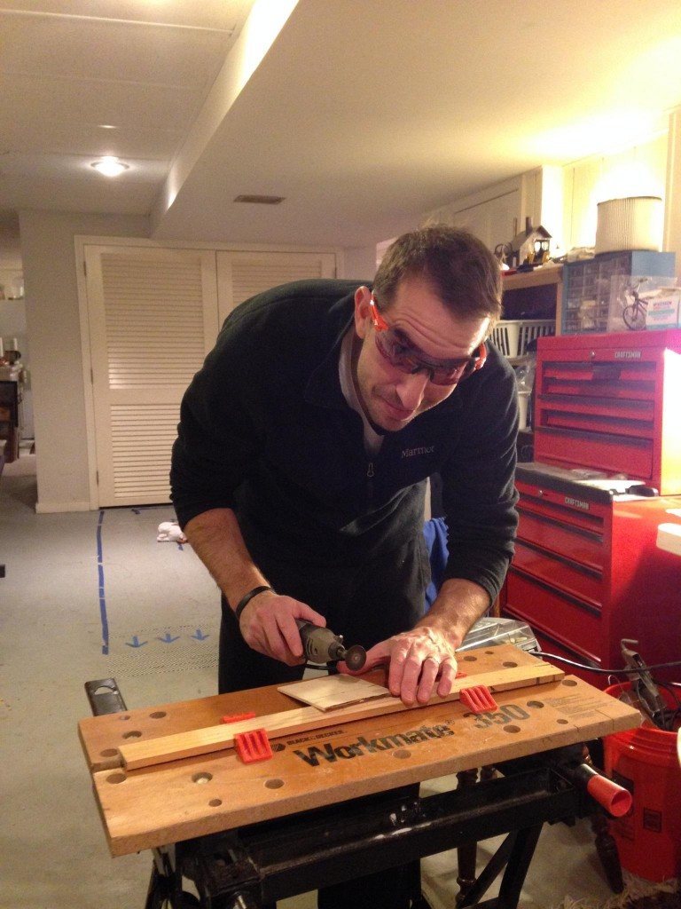 Ornament construction often requires balsa wood, a power tools, and lots of creativity.
