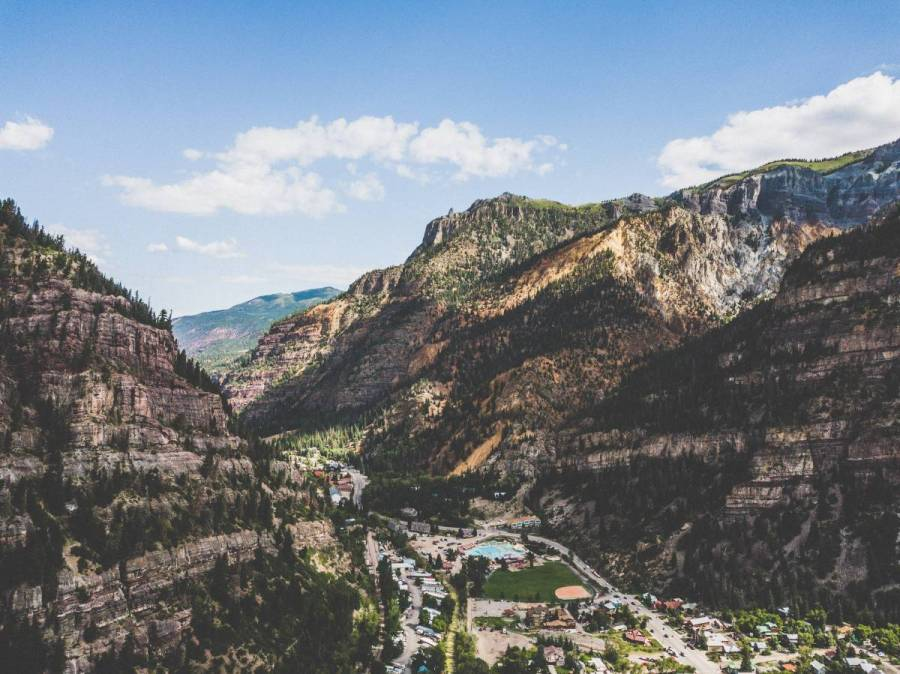 Ouray, walled in.