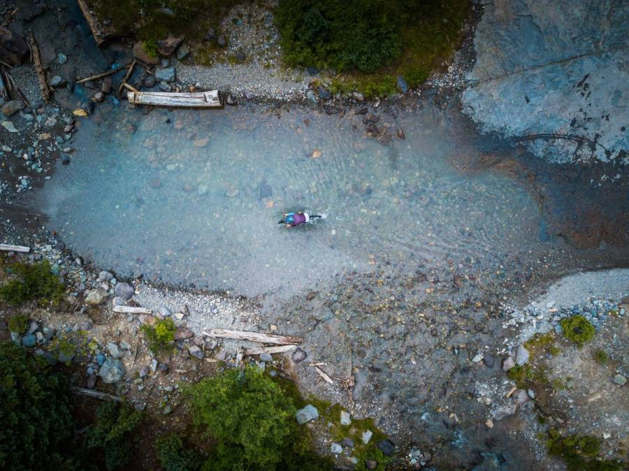 Imogen Basin creek crossing