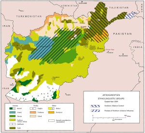 Afghan Ethnic Distribution