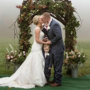 Rodney Smith Photography, RSP, western North Carolina, wedding portrait, fog, kiss