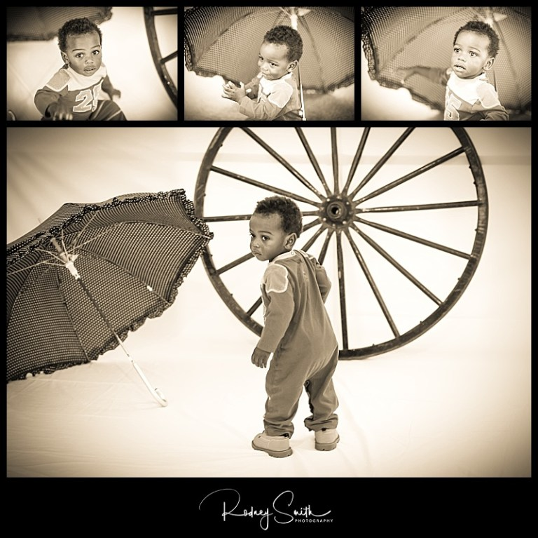 Michael, umbrella, wagon wheel, fall fling, Crossnore Elementary School, Rodney Smith Photography, sepia, cute