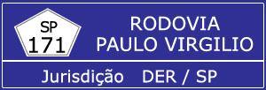 Câmeras Rodovia Paulo Virgilio SP 171