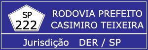 Câmeras Rodovia Prefeito Casimiro Teixeira SP 222