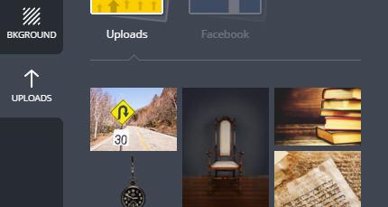 Assim que a imagem aparecer na parte inferior, dê um clique sobre ela.