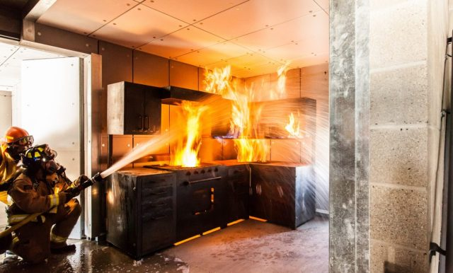 Incêndio na cozinha