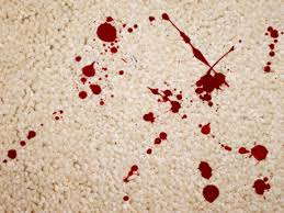 remove blood stain from carpets
