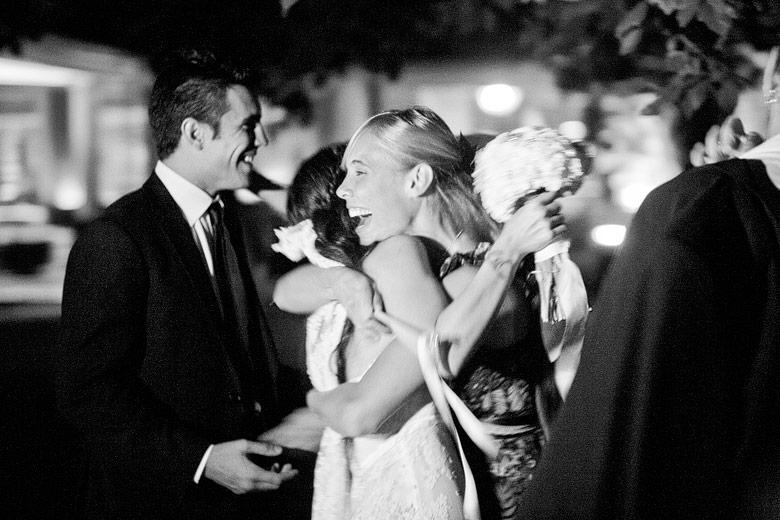 Saludando a la novia