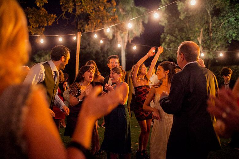 Casamiento en exteriores de Estancia Carabassa de noche