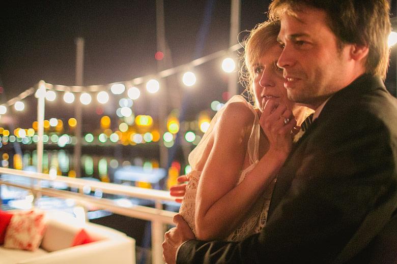 Boda nocturna en el Yacht Club Puerto Madero