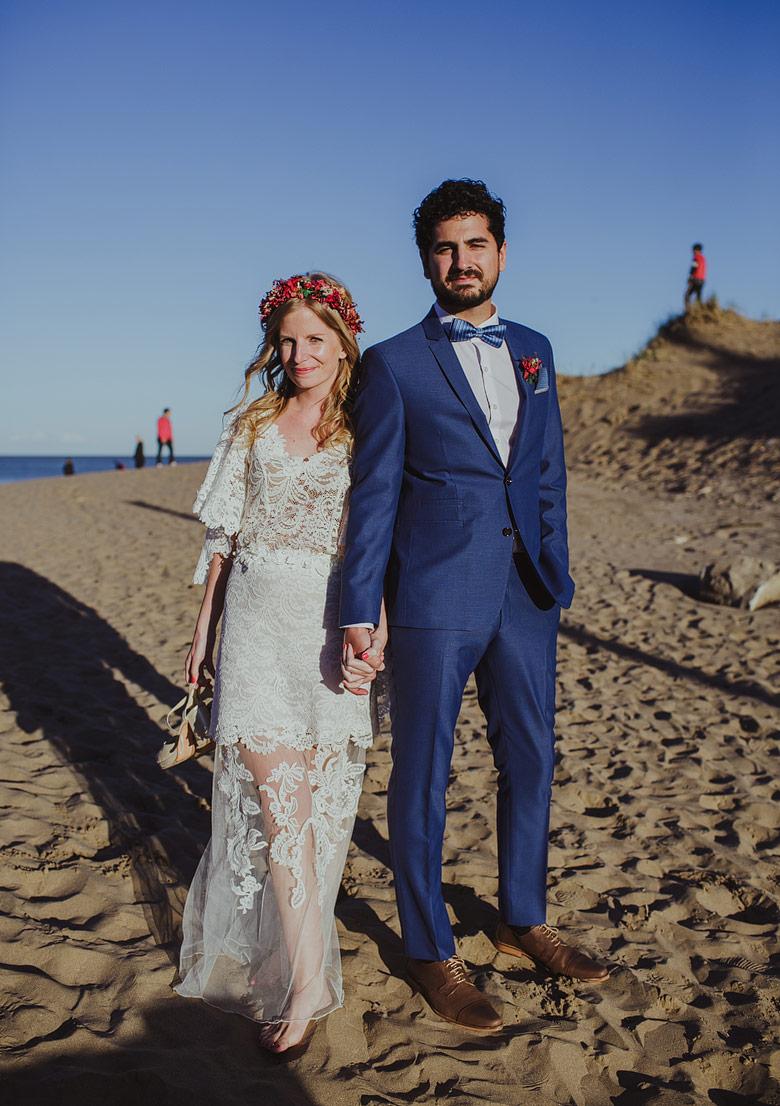 retratos de boda en playa