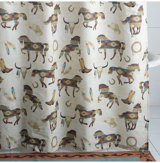 yellowstone cowboy shower curtain