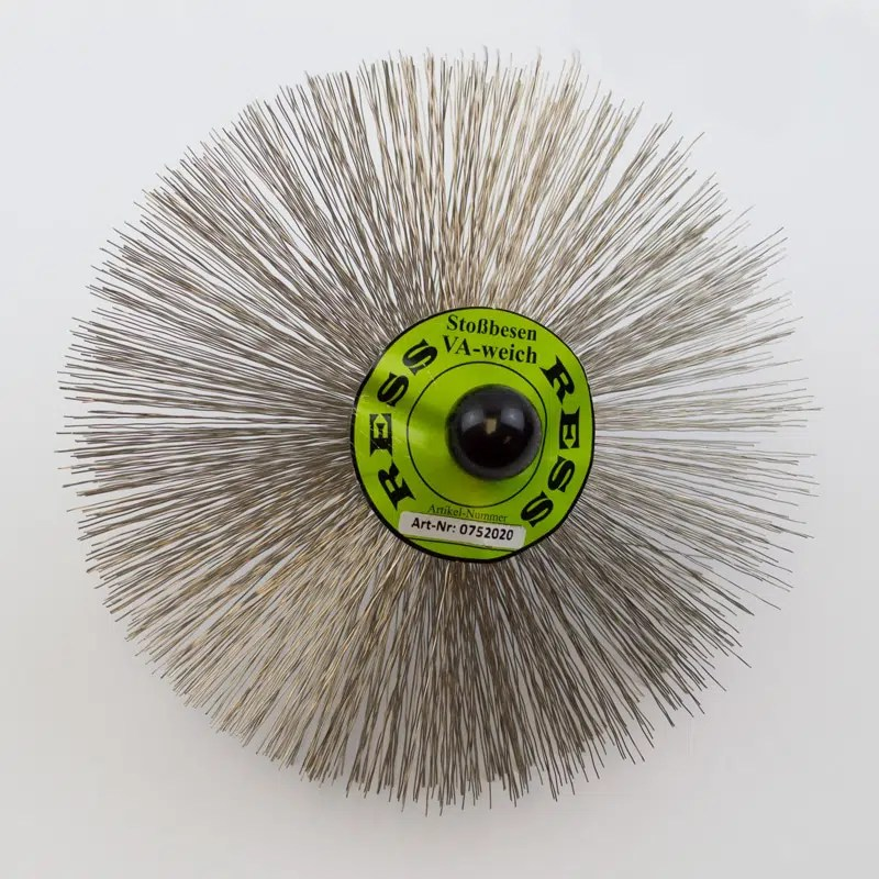 200mm stainless steel Brush made of round wire with an M10 thread.