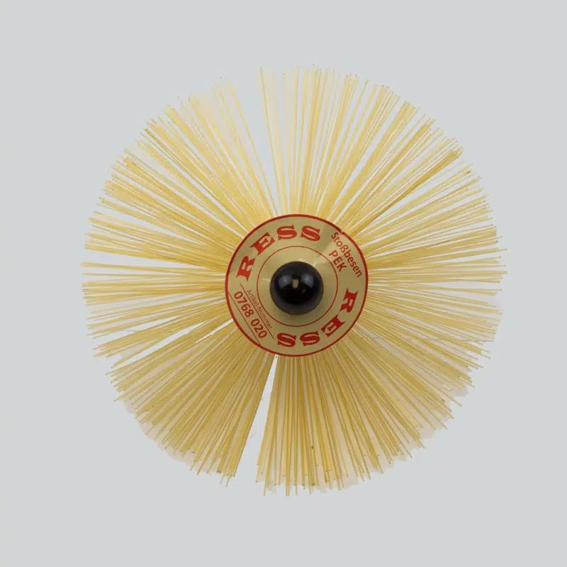 200mm Heat resistant PEK Threaded brush with M10 thread.