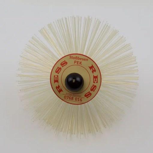 160mm Heat resistant PEK threaded brush with M10 thread.
