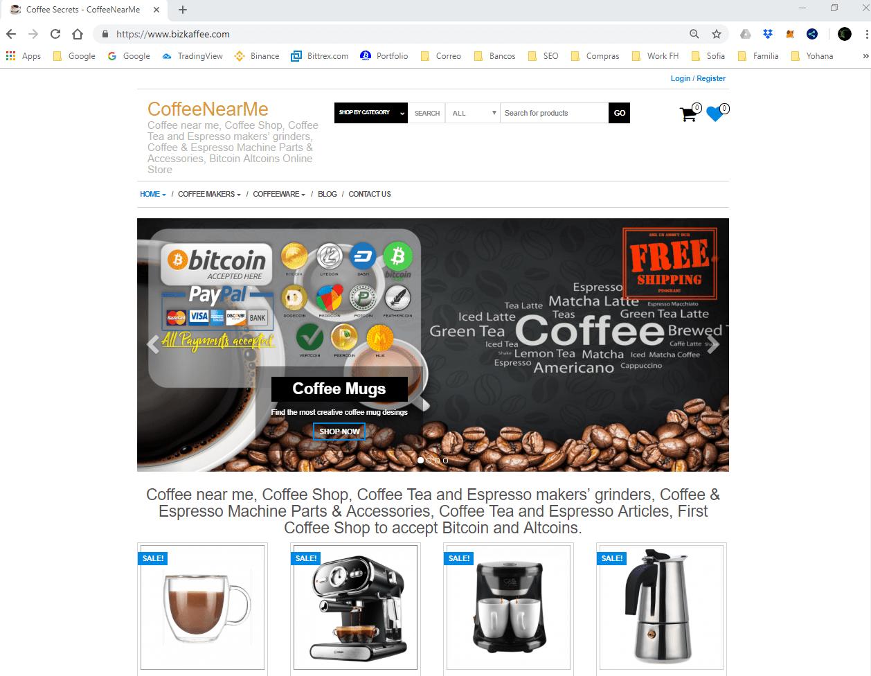 Biz Kaffee Online Store