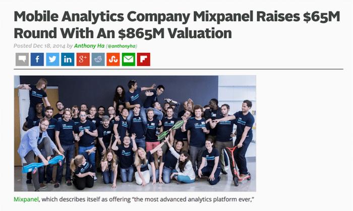 mixpanel value