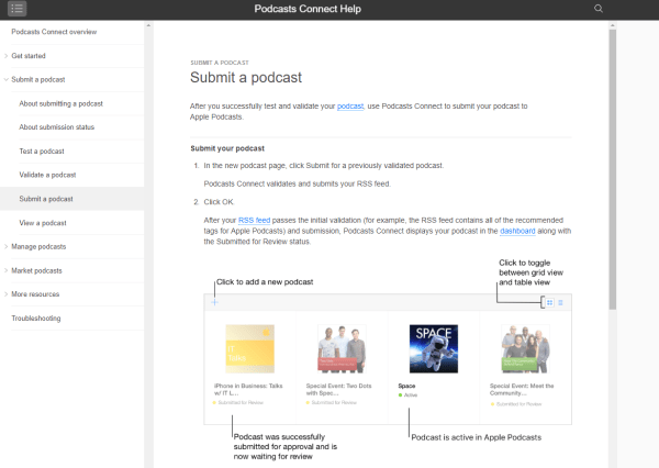 Submitting a Podcast to iTunes