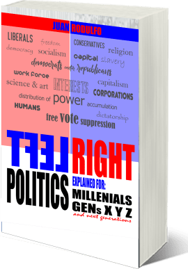 Left Right: Politics explained for Millennials, GENs XYZ and future generations by Juan Rodulfo