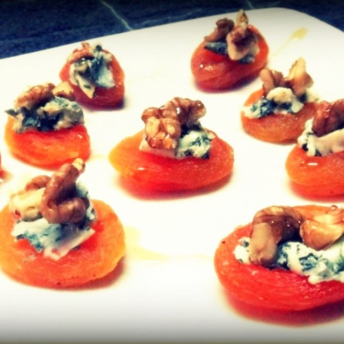 Apricot Blue Cheese Bites