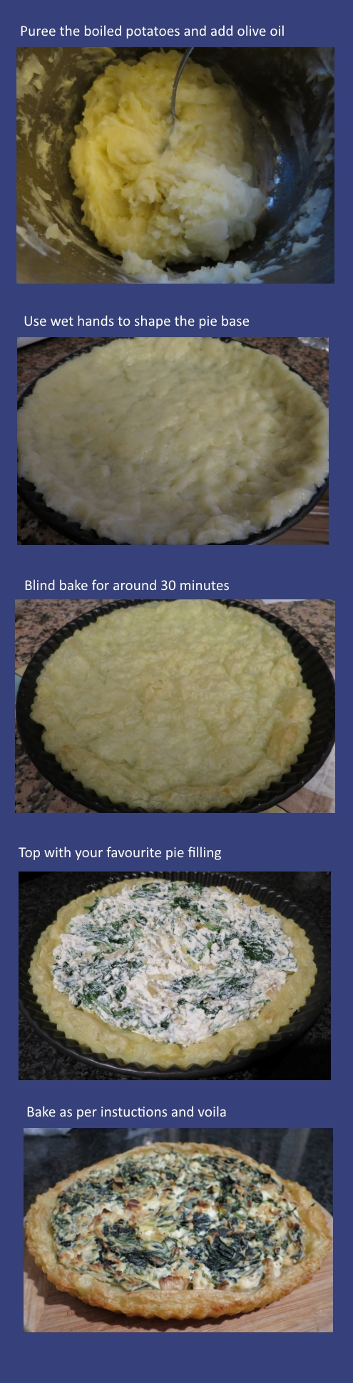 potato pie base steps