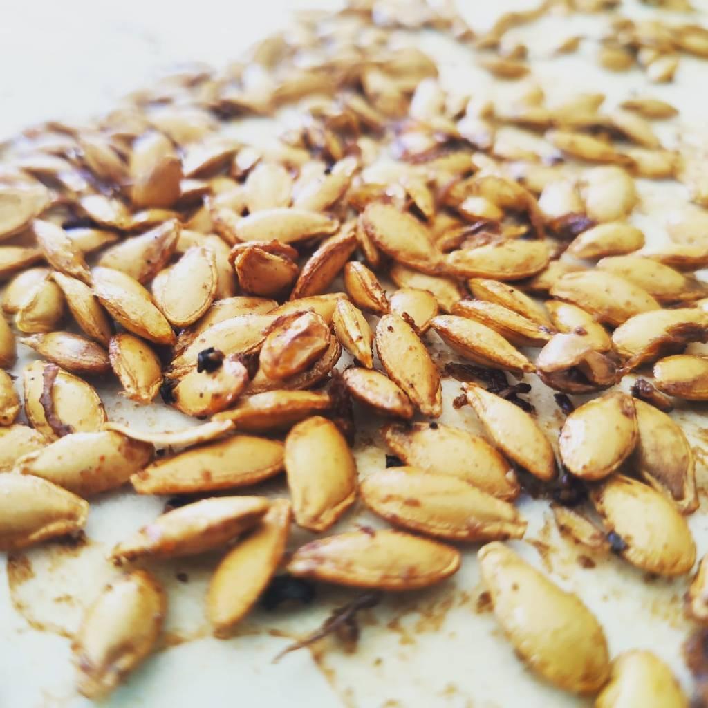 Epic baked pumpkin seeds