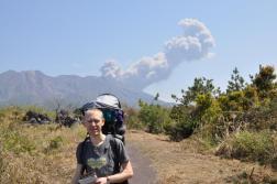 Nasz pierwszy wybuch wulkanu Sakurajima
