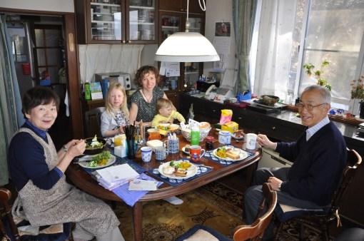 Śniadanie w japońskim domu