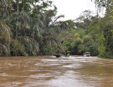 Komunikacja wodna w drodze do Tortuguero