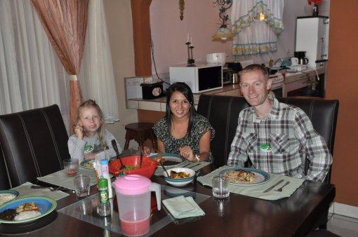 Obiad z mieszkanką Kostaryki w Heredia