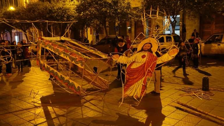 Cuenca - konstrukcja na Boże Ciało