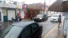Cozumel zalany przy sztormie tropikalnym Franklin