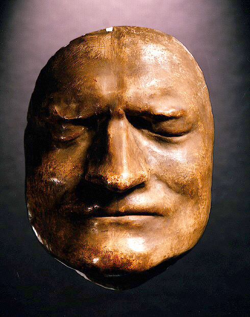 Sir Isaac Newton's death mask; Royal Society image