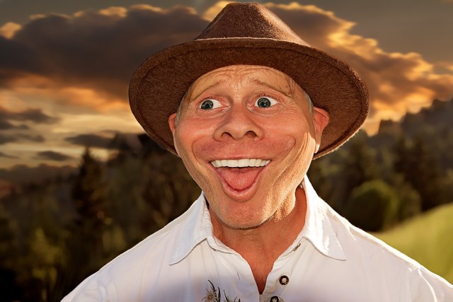 man boer karikatuur hoed