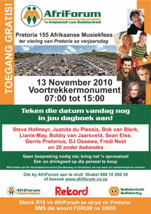 Pretoria 155 Afrikaanse Musiekfees
