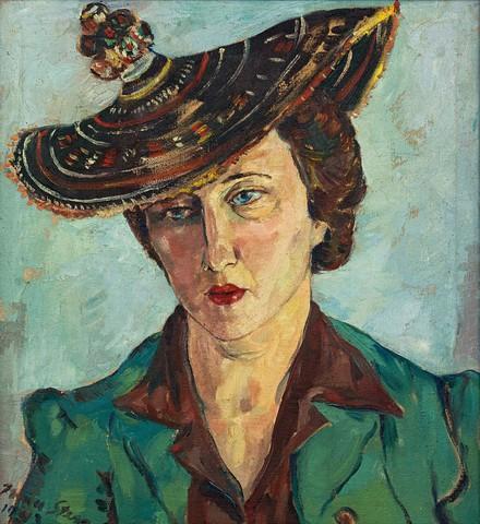Portrait of Freda Feldman with Basuto Hat