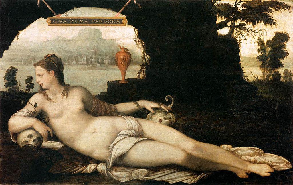 """""""Eva Prima Pandora"""" (circa 1550), Jean Cousin"""
