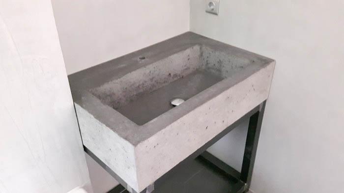 Betonnen Wasbak Badkamer : Badkamermeubel met betonnen wastafel goedkope meubels