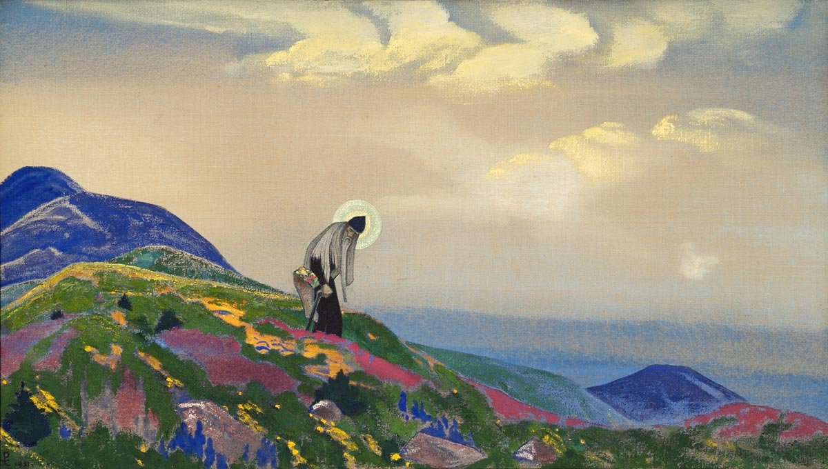 Roerich Museum, New York (1931); Louis & Nettie Horch col., New York (1935); Katherine Campbell col., USA (1940s); Nicholas Roerich Museum (on loan since 1949; acquisition, 1963).  Пантелеймон Целитель.